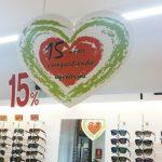 PVC impresión directa con troquel en forma de corazón
